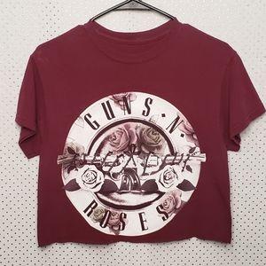 Bravado Gun n Roses cropped t-shirt size small